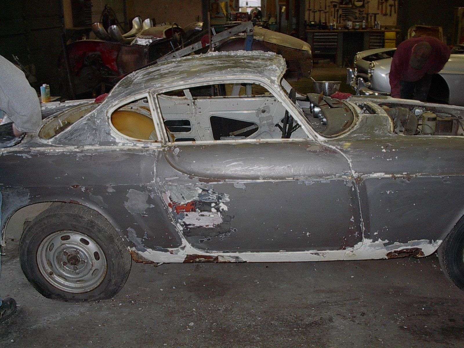 1955 Dodge Truck For Sale >> Volvo P1800 Repaint Project | EnglishAutoUSA
